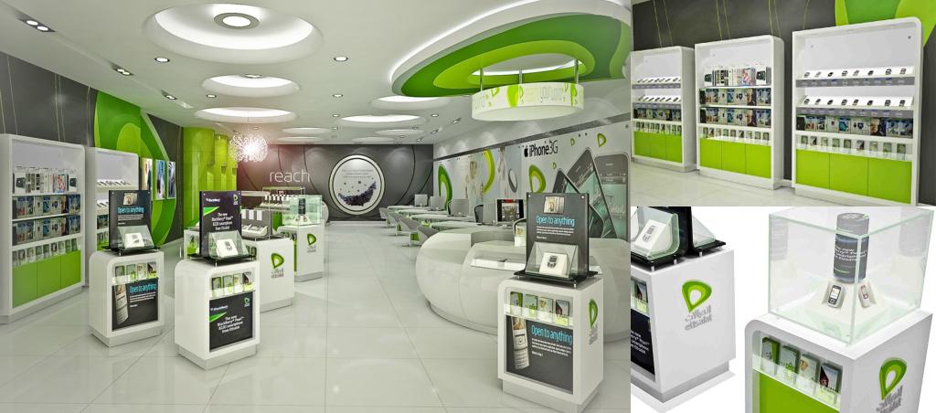 Brand Interiors Design Company Etisalat All Black Media